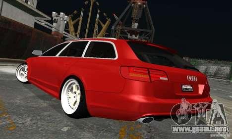 Audi A6 Avant Stanced para GTA San Andreas vista hacia atrás
