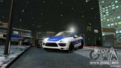 Porsche Cayenne Cop para GTA 4 Vista posterior izquierda