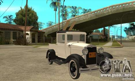 Ford Model A Pickup 1930 para GTA San Andreas vista hacia atrás