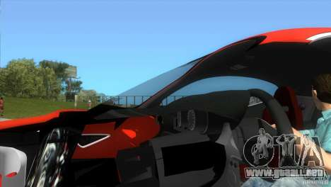 Alfa Romeo 8C Competizione para GTA Vice City visión correcta