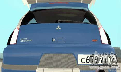 Mitsubishi Lancer Evolution IX Wagon MR Drift para visión interna GTA San Andreas