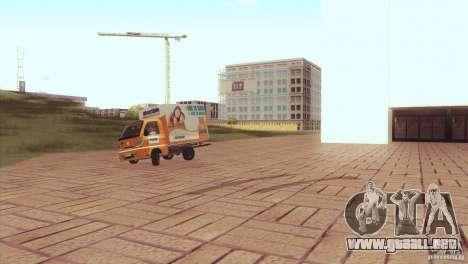 Hafei Camion de Gas para GTA San Andreas vista posterior izquierda