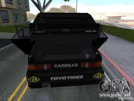 Mercedes-Benz 190E Racing Kit1 para GTA San Andreas vista hacia atrás