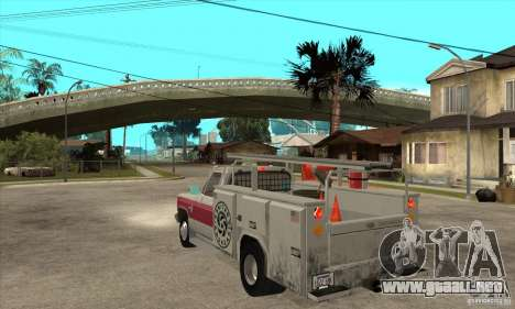 Chevrolet Silverado - utility para GTA San Andreas vista posterior izquierda