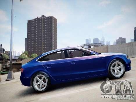 Audi A5 Sportback para GTA 4 Vista posterior izquierda