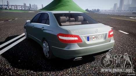 Mercedes-Benz E63 2010 AMG v.1.0 para GTA 4 Vista posterior izquierda