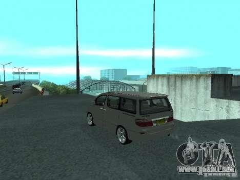 Toyota Alphard G Premium Taxi indonesia para GTA San Andreas left