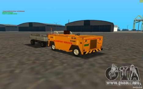 Airport Service Vehicle para GTA San Andreas left
