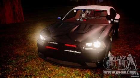 Dodge Charger 2012 Florida Highway Patrol [ELS] para GTA 4 vista lateral