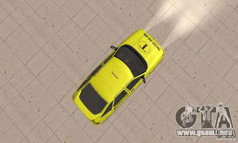 VAZ 21124 TAXI para la visión correcta GTA San Andreas