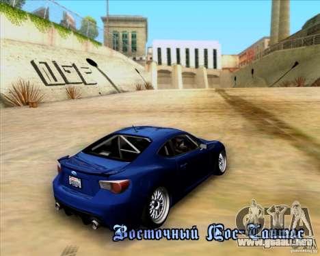 Subaru BRZ Stance para visión interna GTA San Andreas