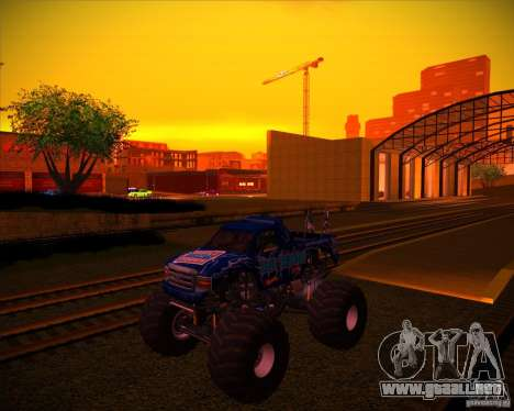 Monster Truck Blue Thunder para vista inferior GTA San Andreas