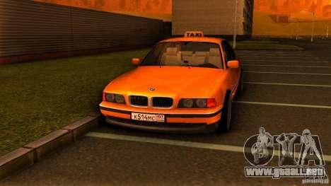 BMW 730i Taxi para la visión correcta GTA San Andreas