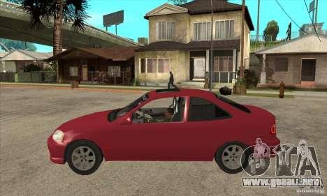 Honda Civic Tuning Tunable para GTA San Andreas vista posterior izquierda