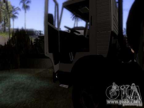 Camión KAMAZ 53212 leche para vista lateral GTA San Andreas