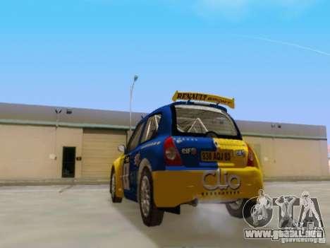 Renault Clio Super 1600 para GTA San Andreas vista posterior izquierda