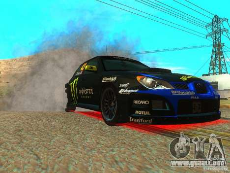 Subaru Impreza Gymkhana Practice para GTA San Andreas vista hacia atrás