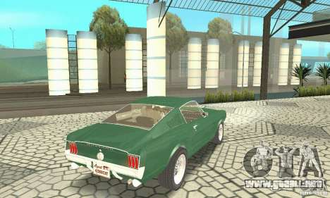 Ford Mustang Fastback 1967 para GTA San Andreas left