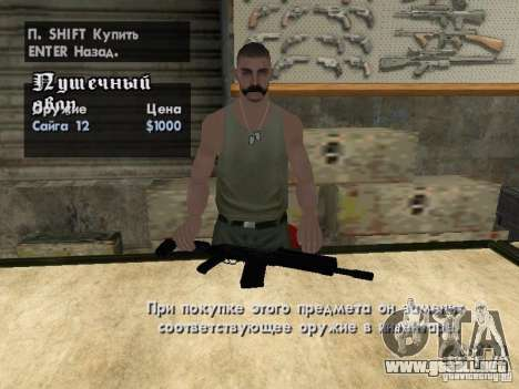Armas Pak domésticos para GTA San Andreas octavo de pantalla