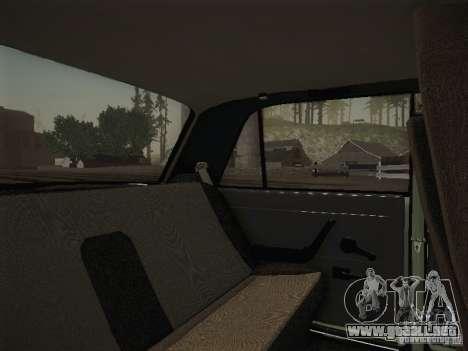 VAZ 2107 v2 para visión interna GTA San Andreas