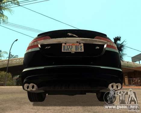 Jaguar XFR 2009 para GTA San Andreas vista posterior izquierda