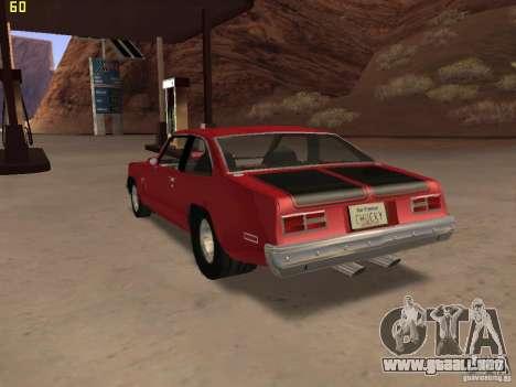 Chevrolet Nova Chucky para GTA San Andreas left