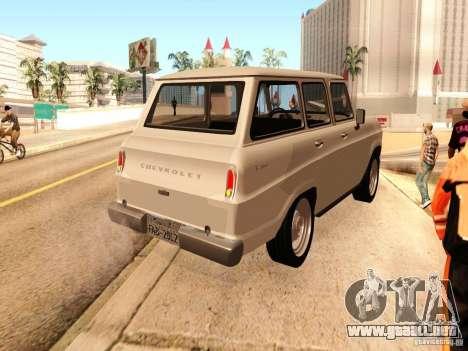 Chevrolet Veraneio de Luxo 1973 para GTA San Andreas vista posterior izquierda