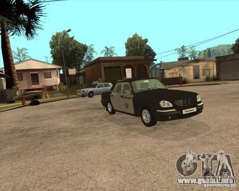 Días laborables de GAZ Volga 3110 policía para la visión correcta GTA San Andreas