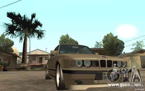 BMW 535i e34 AC Schnitzer para GTA San Andreas vista hacia atrás