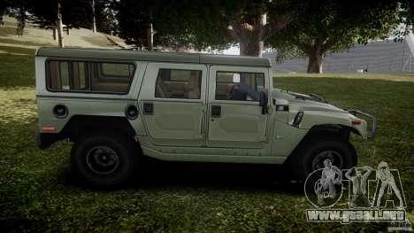 Hummer H1 Original para GTA 4 vista lateral