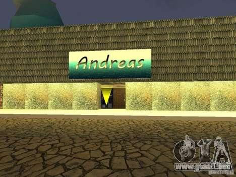 Cafe de Andreas para GTA San Andreas segunda pantalla