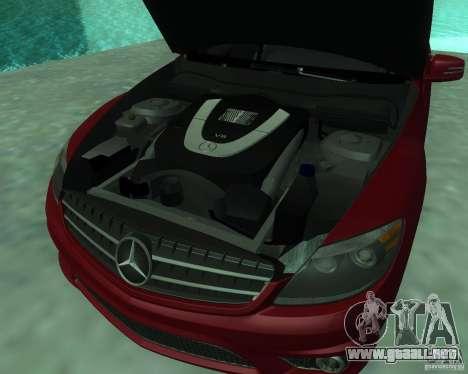 Mercedes-Benz CL65 AMG para visión interna GTA San Andreas