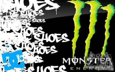 Pantalla de arranque de Monster Energy para GTA San Andreas quinta pantalla