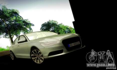 Audi A6 2012 para GTA San Andreas vista posterior izquierda