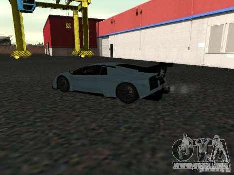 Lamborghini Murcielago R-GT para GTA San Andreas vista hacia atrás