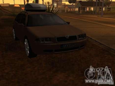 Skoda Octavia para la vista superior GTA San Andreas