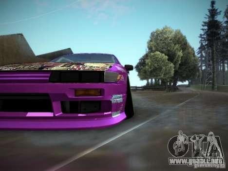 Nissan Silvia S13 Team Burst para GTA San Andreas vista hacia atrás
