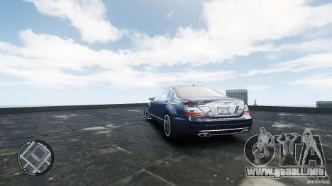 Mercedes-Benz S65 AMG para GTA 4 Vista posterior izquierda