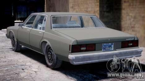 Chevrolet Impala 1983 [Final] para GTA 4 visión correcta