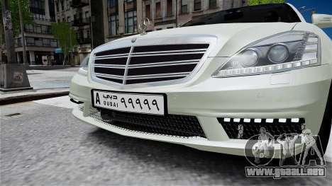 Mercedes-Benz S65 AMG LONG 2010 para GTA 4 visión correcta
