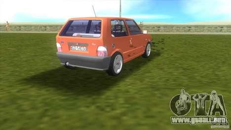 Fiat Uno para GTA Vice City visión correcta