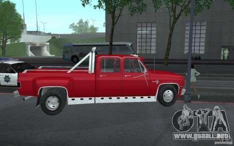 Chevrolet Silverado 3500 para vista lateral GTA San Andreas