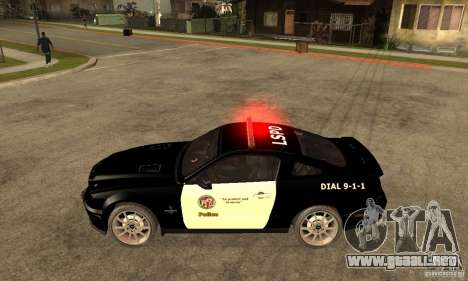 Shelby GT500KR Edition POLICE para GTA San Andreas left