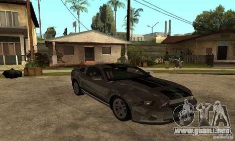 Ford Mustang Shelby 2010 para GTA San Andreas