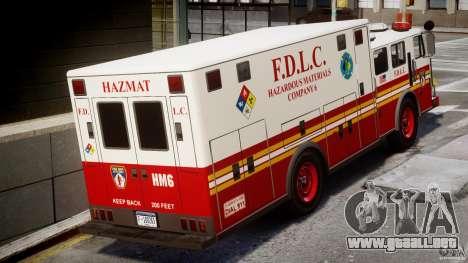 LCFD Hazmat Truck v1.3 para GTA 4 visión correcta