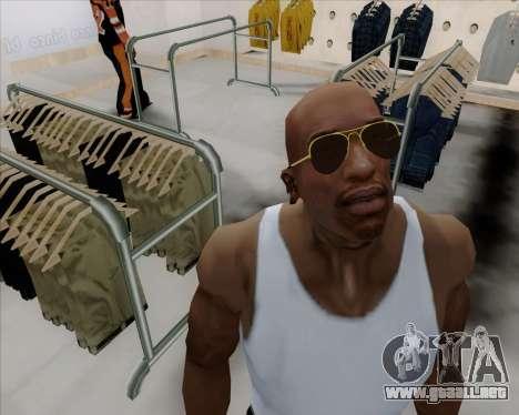 Gafas de sol Aviator Brown para GTA San Andreas segunda pantalla