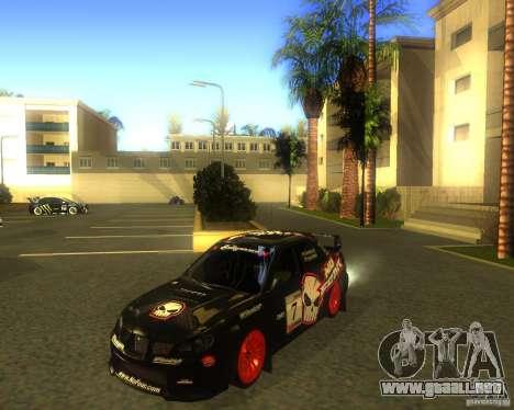 Subaru Impreza Colin McRae para GTA San Andreas left