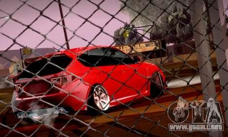 Subaru Impreza WRX Camber para GTA San Andreas vista hacia atrás