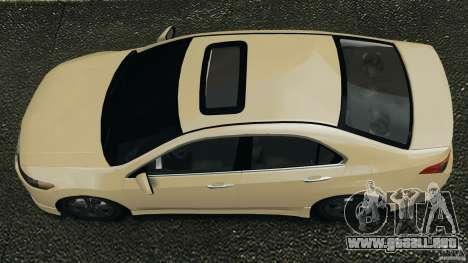 Honda Accord Type S 2008 para GTA 4 visión correcta