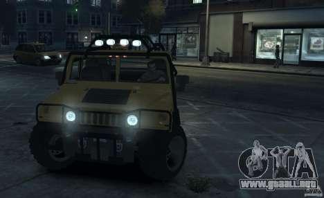 Hummer H1 4x4 Extras para GTA 4 left
